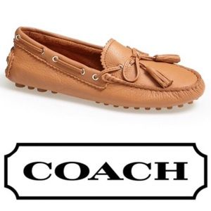 New! Coach Nadia Leather Loafers